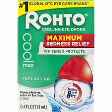ROHTO COOLING EYE DROPS MAXIMUM REDNESS RELIEF  13ml 0.4 fl.oz.   FAST POST  UK