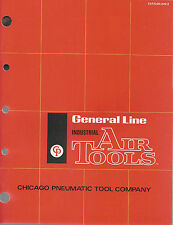 Industrial Air Tools Vintage 1973 Catalog Chicago Pneumatic Tool Co New York