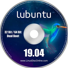 Lubuntu 19.04 Disco Dingo 32-bit and 64-bit Combo Linux Live Install DVD PC Mac