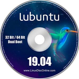 Lubuntu 19.04 Disco Dingo 32-bit and 64-bit Combo Linux Live Install DVD PC Mac