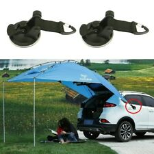 2/PK Suction Cup Anchor Securing Hook Tie Down Camping Tarp as Car Side Awning