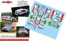 DÉCALS 1/32 réf 256 Toytota Corolla WRC Sainz Auriol Chine 1999