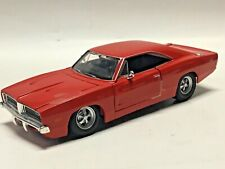 Maisto 1/25 1969 Dodge Charger R/T Diecast Model Car Red tape still on doors