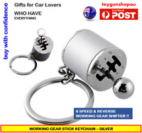 Gear Shifter Keychain Men's 6-Speed Gear Stick Car Keyring Gift Turbo Drifting S