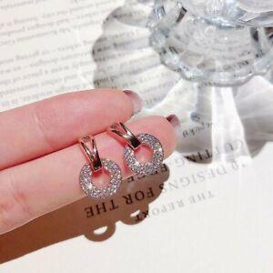 Charm Circle Crystal Geometry Earrings Stud Drop Dangle Women Jewellery Gifts