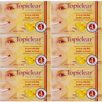6 Pack Topiclear Lemon Soap Skin Face Body Cleanser Jabon Limon Piel Cara Cuerpo