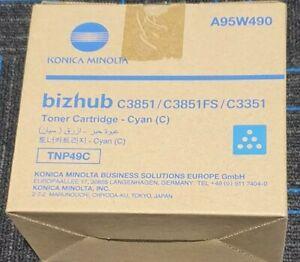 Genuine Konica Minolta TNP49C Cyan Toner Cartridge for Bizhub C3351 C3851