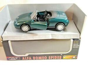 NEW RAY SPEEDY POWER 1:32 SCALE ALFA ROMEO SPIDER - GREEN - NR507 - BOXED