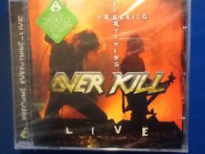 OVER KILL.             WRECKING. EVERYTHING.  LIVE.        COMPACT DISC