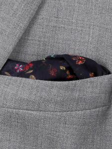 Paul Smith Floral Cotton Pocket Square, Blue