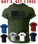 USA Distressed Flag T-Shirt Patriotic American Army Military Tee Shirt