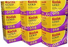 9 x  KODAK GOLD 200 35mm 36exp CHEAP COLOUR CAMERA FILM BY 1st CLASS POST