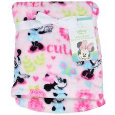 New Minnie Mouse fleece blanket baby girl crib bedding