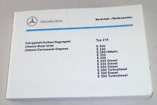 Catalogo Immagini Ricambi Mercedes Classe e W210 E200/E230 Etc. Von 11/1996