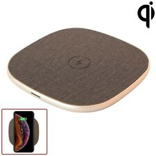 Qi Wireless Fast Charge Charging Pad Mat For iPhone X 8 Plus Samsung S10+ Gold