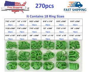 270PCS Rubber O-Rings Wear Oil Air PCP Gaskets Cylinder Valve Spare Parts Kits