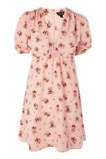 BNWT Topshop Pink Blush Floral Print Tea Dress 8 Kate Moss Blogger Limited Edtn