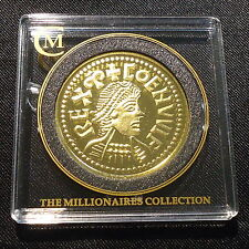 805 GB Coenwulf Gold Penny Gold Plated Silver Proof coin Millionaires Collection
