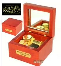 JAPAN SANKYO Red Wood Wind Up  Mirror Music Box: Star Wars - The Force Theme