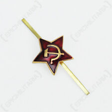 Soviet Red Star Cap Badge - Russian Beret Pin Uniform Arm Military Soldier New