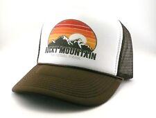 Rocky Mountain National Park Colorado Trucker Hat mesh hat snapback hat brown
