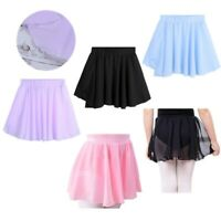 US Kids Girls Dance Tutu Skirt Petticoat Skating Underskirts Party Wedding Dress