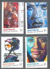 Australia-Street Art May 2017 mnh set(4)-Paintings-gummed issue