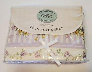Rachel Ashwell Treasures Sheet Regent Park Shabby Chic Twin Flat Sheet New