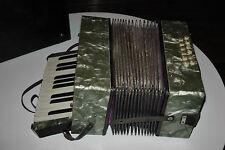 Antikes Akkordeon  Knopfakkordeon um 1930  im Originalkoffer  Ziehharmonika