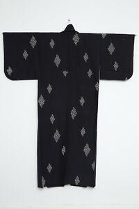 Authentic Traditional vintage silk Japanese yukata hitoe kimono