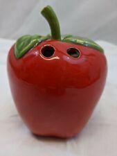 1978 Apple Porcelain Pencil Holder Red - Ideal For Teacher Vintage