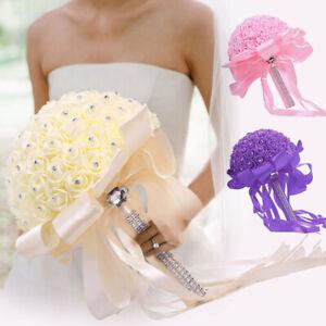 Artificial Flowers Foam Roses Fake Wedding Bride Bouquet Party Home Decor