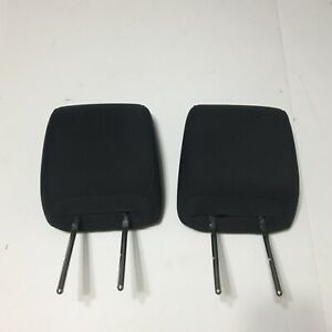 2008- 2012 JEEP LIBERTY DODGE NITRO REAR SEAT 2ND ROW HEAD REST SET BLACK CLOTH