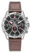 Relojes de pulsera Chrono plata de cuero