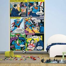 Nuevo 1 Pared easy-hang Wallpaper Mural Superman Dc Comic Panel 1.58 m X 2.32 M
