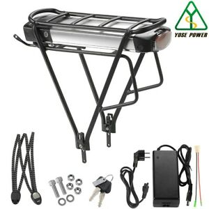 YOSE POWER E-bike Akku 36V 13Ah (481Wh) Fahrrad Batterie mit Gepäckträger