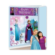 Disney Frozen Birthday Scene Setter Banner Wall Party Decoration Kit
