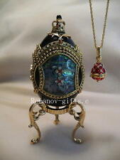 Princess Anastasia Phantom of the Opera Mother of Pearl w/  FABERGE Egg Necklace