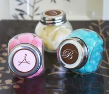 96 Traditional Monogram Candy Jars Wedding Favors Lot