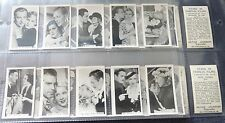 Full set P Jackson 'STARS OF FAMOUS FILMS' little toned but o/wise ex condition.