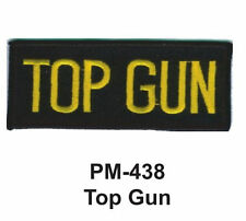 """3""""  TOP GUN Embroidered Military- Patch"""