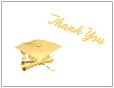 GRADUATION Golden CAP Gift THANK YOU Postcards or Flat Cards Envelopes & Seals