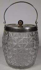 ANTIQUE EARLY 1900s ENGLAND WALKER & HALL SILVERPLATE SMALL ICE BUCKET WITH LID