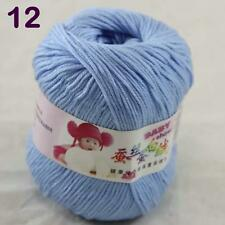 Sale 1ball 50g Baby Cashmere Silk Wool Children hand knitting Yarn 12 Sky blue