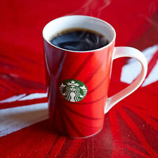 New listing Nwt Starbucks Coffee Red Holiday Cup 2014 Swirl Pattern Mug, 12 oz.