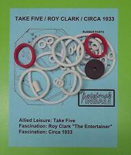Allied Leisure Take Five, Circa 1933, Roy Clark pinball rubber ring kit