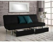 Futon Sofa Bed Frame Mattress Couch Sleeper Lounger Chaise Convertible Furniture