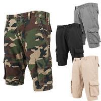 Urban Classics Fitted Cargo Shorts Kurze Hose Bermudas Camo Military TB1265