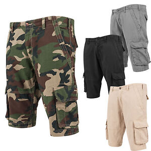 Urban Classics Fitted Cargo Shorts Bermudas Camo Military TB1265
