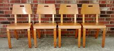 4 Mid Century Modern Thonet Bentwood Classroom Children's Chairs Eames w/labels